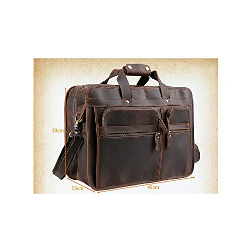 Borsa BrownBrown Uomo A ValigettacolorDark Laptop In 15 Scomparti Yyzcl Per EcopelleNera Tracolla mnwvO8N0