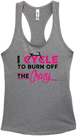 "ed76c0b554a69a Bike Riding Girls Junior Tank Top ""I Cycle to Burn off the Crazy"" Shirt"