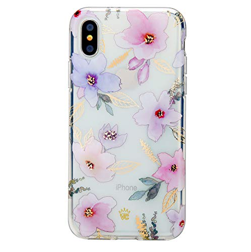- Floral iPhone X Case/iPhone Xs Case Clear with Cute Flower Design for Girls Women - Protective Cover [Drop Test Certified]