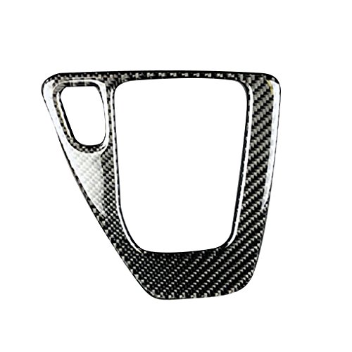 (Jiasijieke Carbon Fiber Gear Shift Control Panel Cover Trim Car Accessory Decor Sticker for BMW 3 Series E90 E92 E93 2005-2012)