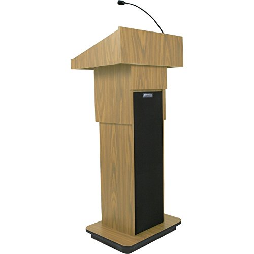 Amplivox S505A-OK S505A - Executive Adjustable Column Sound Lectern - Rectangle - 25 inch x 19 inch x 45 inch - Particleboard