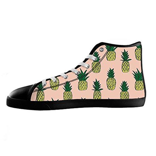 Canvas Sopra I Di Custom Scarpe Delle Le Alto In Lacci Fumetto Da Shoes Men's Ananas Tela Ginnastica wTAITq