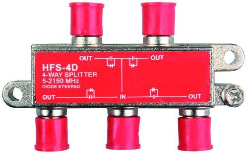JR Products 47345 2 GHz HD/Satellite Line Splitter - 4-Way