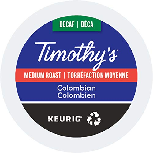 Timothy's Colombian Decaf Coffee Keurig K-Cups, 24 Count (Timothys Cups Coffee K)
