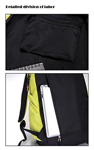 SAIERLONG Neues Frauen und Herren Blau Polyester Rucksack Umhängetasche Tasche Reisen Gelb
