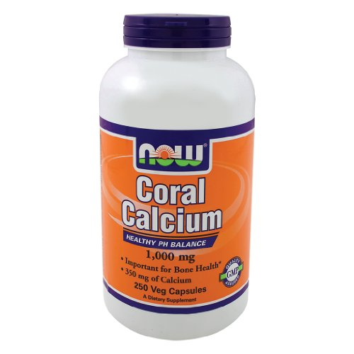 Now Foods Коралловый кальций 1000 мг, Вег-капсулы, 250-Граф