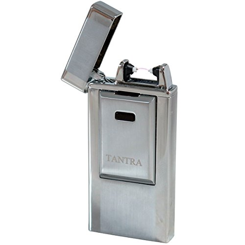 Tantra Adonis Electronic Pulse Single Arch Windproof Flameless USB Charging Cigarette Lighter - Silver