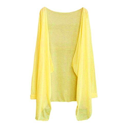 Femme Femme Manteau Kimono Chemisier Casual Coton Gilet Femmes Tops Cardigan Koly Kimono solide E Ample En Blend Tq6qrCwd