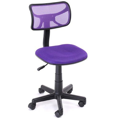 Homycasa Armless Swivel Office Chair Mesh Desk Chair, PURPLE