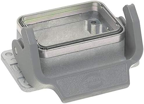 09628060301 – Heavy Duty Connector, Low Profile, Base, Bulkhead Mount, Aluminium Body, 1 Lever, 6B