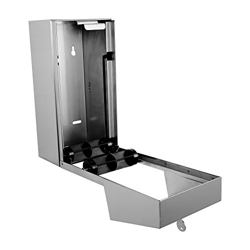 Dual Rolls Toilet Paper Dispenser - Lockable Design - 304 Grade Stainless Steel by Dependable Direct (Image #2)