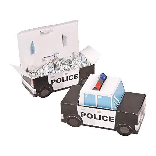 Patrol Car Police Party Favor Treat Boxes - 12 Piece -