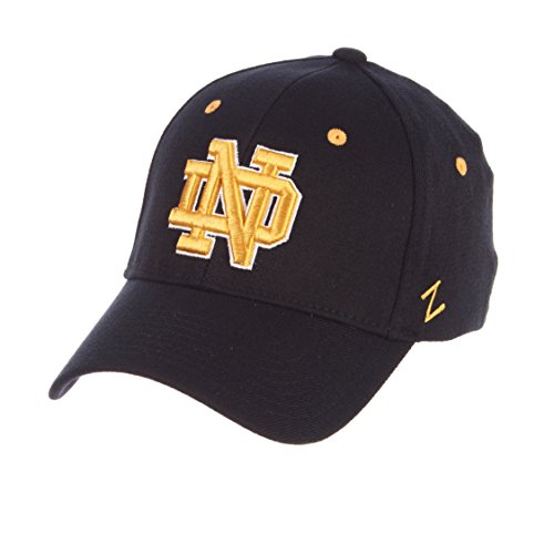 (Zephyr University of Notre Dame ND Fighting Irish Blue DH Adult Mens Fitted Baseball Hat/Cap Size Medium)
