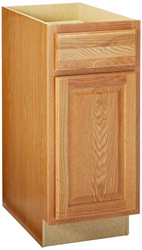 CONTINENTAL CABINETS KITCHEN CABINETS 2478209 Rsi Home Products Hamilton Base Cabinet, Fully Assembled, Raised Panel, Oak, 15X34-1/2X24""