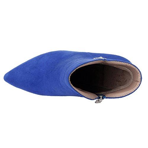 Bleu Femme ZAPROMA pour 001 Bottes XUE 36 Bleu 5 nZZqRUa