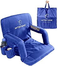 Hitorhike Stadium Seat for Bleachers or Benches Portable Reclining Stadium Seat Chair with Padded Cushion Chai