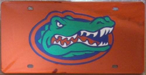 Florida Gators ORANGE 00330 SD Laser Cut Mirrored License Plate Tag University of by Football Fanatics