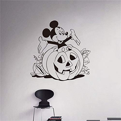 Oisiu Mickey Mouse Wall Sticker Decal Creative DIY Bedroom Cute Mickey Mouse Halloween Goofy Wall Stickers for Kids Rooms Mickey Home]()