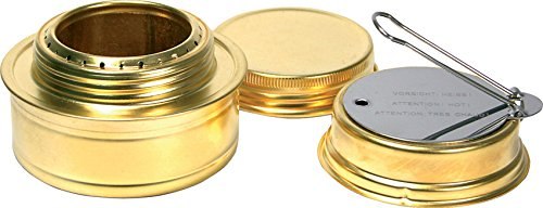 - Esbit Brass Alcohol Burner Camping Stove with Variable Temperature Control