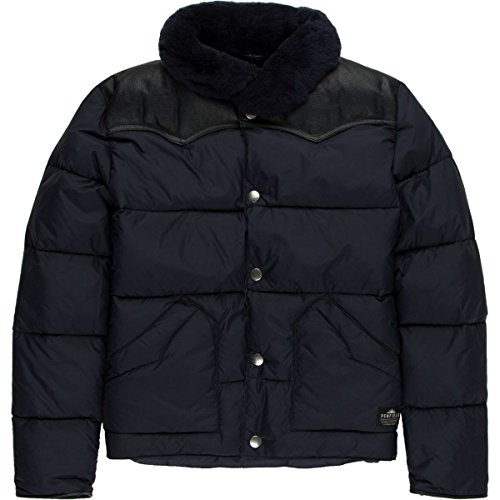 Penfield Rockwool Leather Yoke Down Jacket - Boys' Navy, 7-8 by Penfield