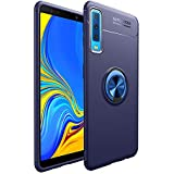 Bounceback ® Samsung Galaxy A7 2018 Back Case Cover Shock Proof Ring Stand Back Cover for Samsung Galaxy A7 2018 (Jet Blue)