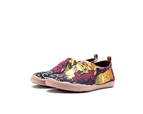 Chaussures Pour Femme Dorée Uin Peintes Plage Sportives De Multicolore Toiles EAWRq8v