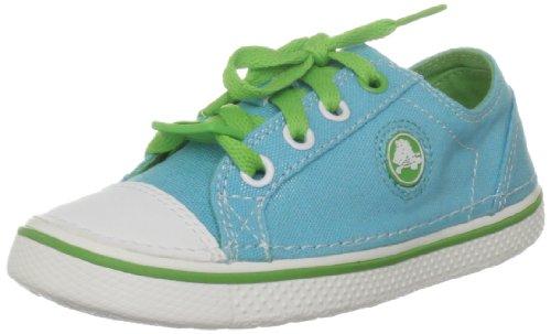 Crocs Hover Metallic Lace-Up Sneaker (Toddler/Little Kid/Big Kid),Aqua/Lime,1 M US Little Kid/ 3 M US Women's by Crocs