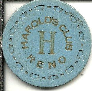 ($1 harolds club roulette reno nevada casino chip obsolete)