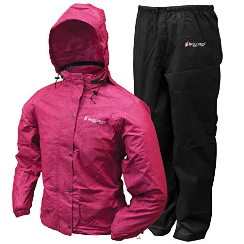 - Frogg Toggs All Purpose Women's Rain and Wind Suits, Cherry/Black, Large