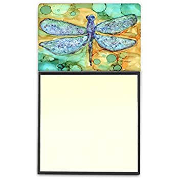 Carolines Treasures Abstract Flowers Teal /& Orange Sticky Note Holder 8969SN Multicolor