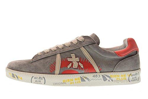 Premiata Schoenen Vrouwen Lage Sneakers Andy-d 3090 Grigio / Arancio
