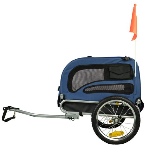 Orignial Doggyhut Medium Pet Bike Trailer Dog Bicycle Carrier Blue 6030102 Top Deals