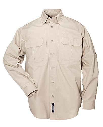 5.11 Tactical Tactical Long-Sleeve Shirt, Khaki, Large
