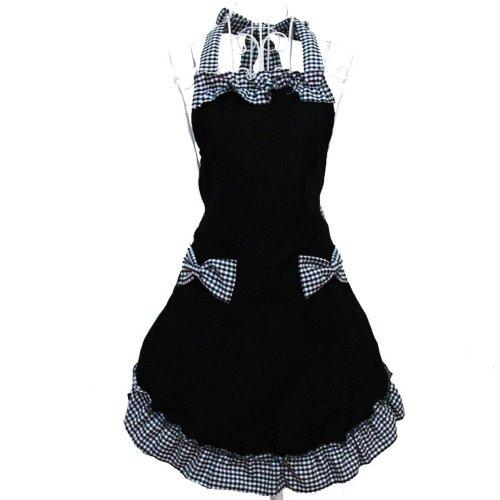 HANERDUN Pastoral Style Ladies Apron Dress Lovely Girls