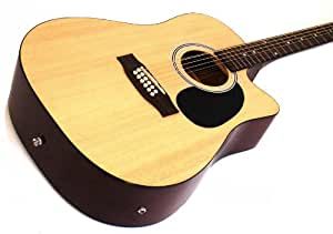 12 string acoustic electric guitar natural finish musical instruments. Black Bedroom Furniture Sets. Home Design Ideas