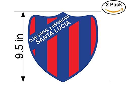 Club Social y Deportivo Santa Lucia de Acheral Argentina Soccer Football Club FC 2 Stickers Car Bumper Window Sticker Decal Huge 9.5 inches