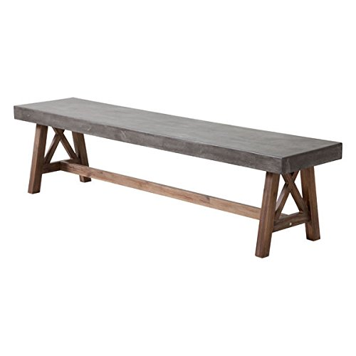 Zuo 703595 Ford Bench, Gray & Natural