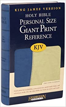 Book KJV Personal Size Giant Print Reference Bible - Blue on Green