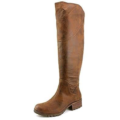 0d739d2840a Lucky Brand Harleen Wide Calf Women US 6.5 Brown Over the Knee Boot