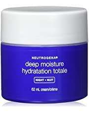 Neutrogena Deep Moisture Night Cream, Vitamin D3 and Glycerin Face Moisturizer, 61 mL