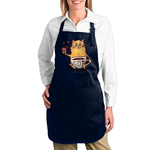 Costume Contest Meme (Dogquxio The Cat Coffee Kitchen Helper Professional Bib Apron With 2 Pockets For Women Men Adults Navy)