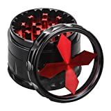 Quality Aluminium Herb Grinder By Fengli, 2.5'' Large 4-part Spice  Grinder with Pollen Screen,Red For Sale
