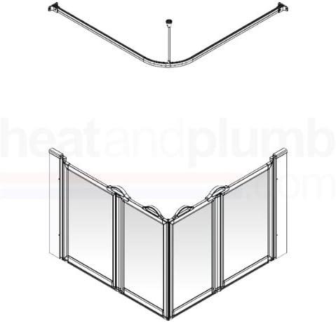 Mampara de ducha Option e, Pivot, plegable, en ángulo, 1000 x 1000 x 900 mm Ref 92050 N: Amazon.es: Hogar
