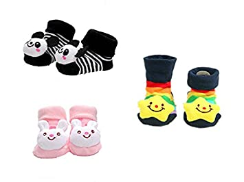 Viskey Pack Of 3 Baby Girls Infant Ballet Ballerina Socks Packs Anti
