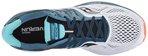 Saucony Mens Ride 10 Running-Shoes White Blue