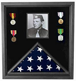 product image for 5X 8ft American Flag and Photo Display case for Large American Flag and Photos.