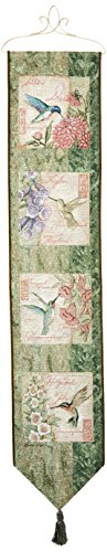 Manual Woodworkers & Weavers Tapestry Bell Pull, Wings and Blossoms by Susan ()