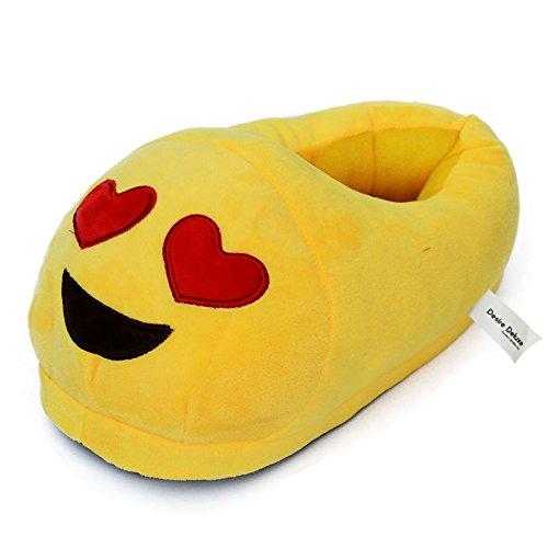 Desire Deluxe Emojis Slippers Rainbow Poo Novelty Unisex Adult Men Women Emoti Multi-coloured Smiley Poop Winter Plush Indoor Funny Slippers For Girl Boy Size 5 6 7 8 8.5 Heart Eye Q4bFSjNCMW
