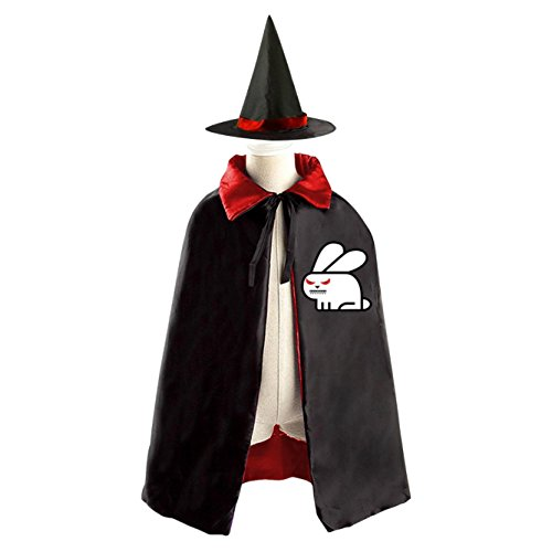 Rabbit Homemade Costume (Halloween Evil Angry Bunny Rabbit Decoration Props Witch Wizard Cloak Dress Suit)