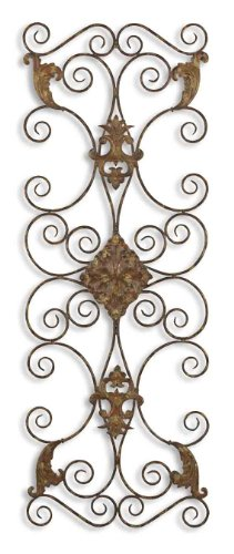 Uttermost Fayola Metal Wall Art Distressed, Aged Black With Rust Brown Undertones